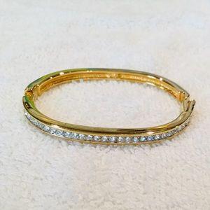 Swarovski Gold-tone Crystal Bracelet Bangle